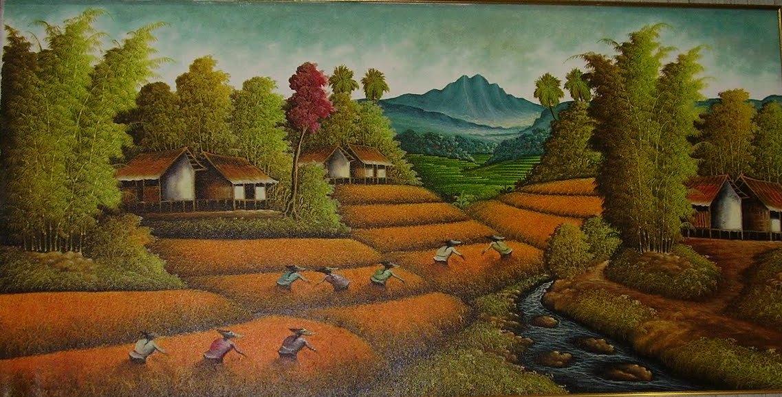 lukisan pemandangan Situsguru s Blog