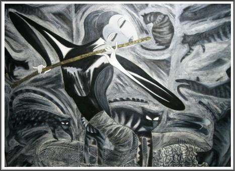 Lukisan Bermain Seruling