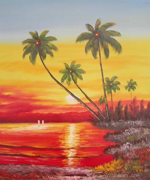 jual lukisan murah pemandangan alam high class alam pedesaan kampung